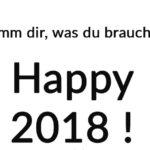 Gute Wünsche to go - mit unserem Abreisszettel für 2018