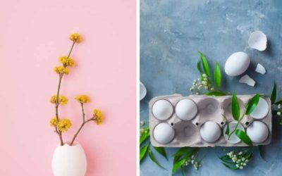 Mit Eierschalen für Ostern basteln